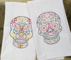 image of embroidered dishtowels