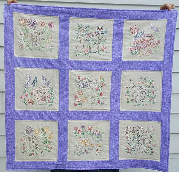 woodland animals quilt